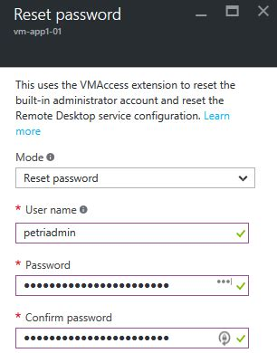 reset windows password on virtual machine troubleshooting azure arm virtual machines petri