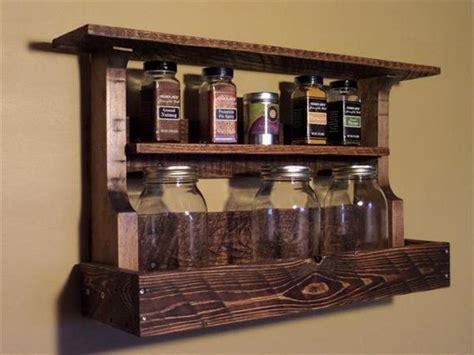 Handmade Spice Rack - amazing diy kitchen pallet project ideas