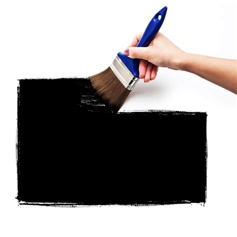black wall paint it work painting a wall in simple black