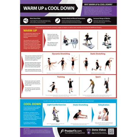 game design exercises posterfit warm up cool down poster
