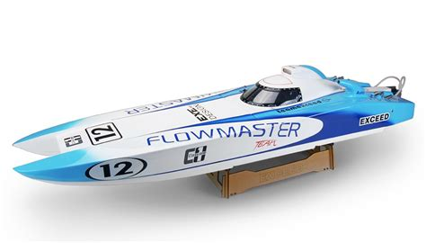 rc gas boat for sale exceed racing fibgerglass flowmaster catamaran 26cc gas