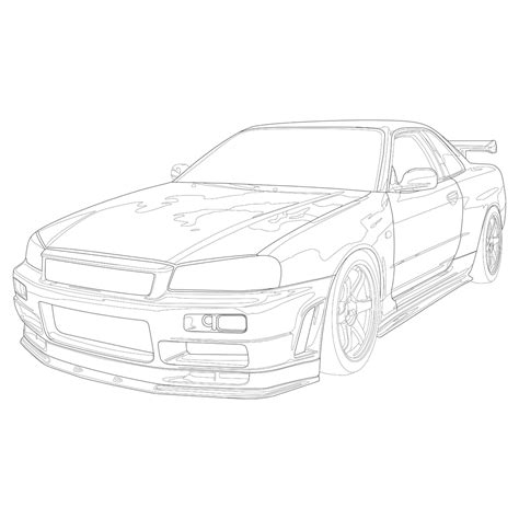 nissan skyline drawing outline 100 nissan skyline drawing outline pin by saber