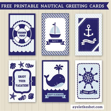 printable jewish birthday cards free printable nautical design greeting cards ayelet keshet