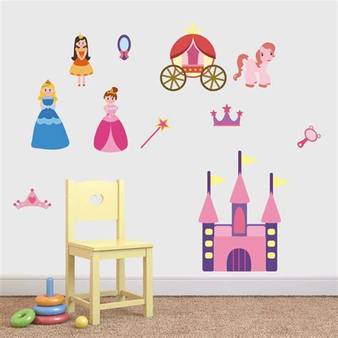 princess stickers for walls princess set fabric wall stickers by mirrorin notonthehighstreet