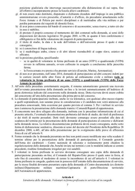 posizione militare dispensato concorso allievi carabinieri 2016 bando