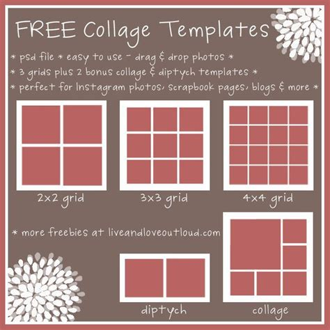 Card Templates 4 Picture Collage 28 best images about free collage templates on