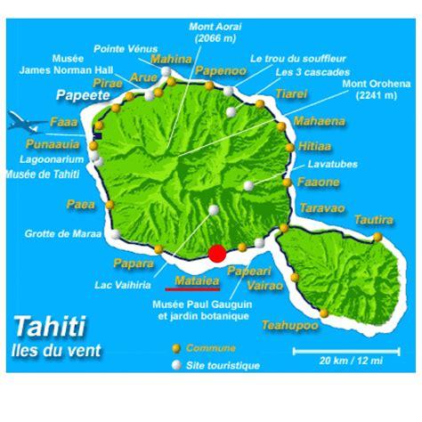 carte touristique de tahiti arts  voyages