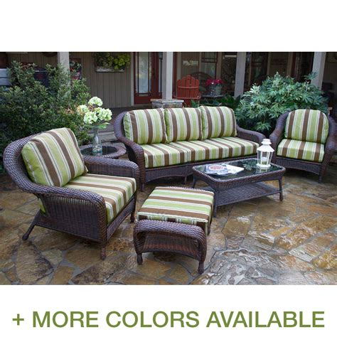 tortuga patio furniture tortuga 6 seating set with sofa free shipping