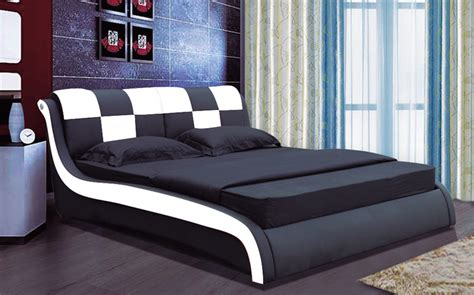 designer bed luxury designer bed double 102 black white furniture
