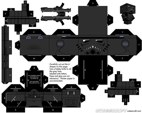 Stormtrooper Papercraft - darth vader cubeecraft wars day