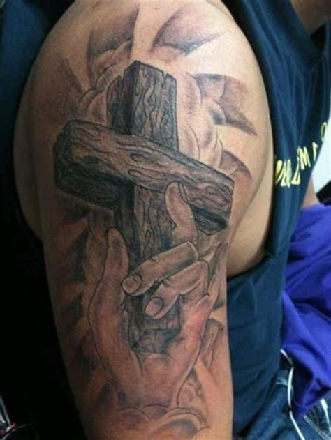 bicep cross tattoos cross tattoos for guys ideas and designs for