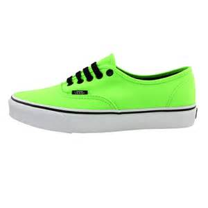 neon color shoes neon green vans shoes