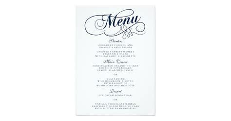 Printable Wedding Menu Card Template by Menu Template Free Printable Word Menu And Resume