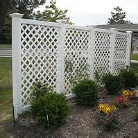 vinyl diagonal lattice fence designs by elyria fence