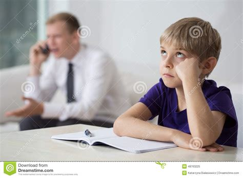 Sit At The Desk by Bored Child Sitting At The Desk Stock Photo Image 48763225