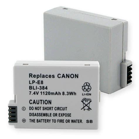 Canon Battery Lp E8 1120mah canon eos t3i digital battery distributing