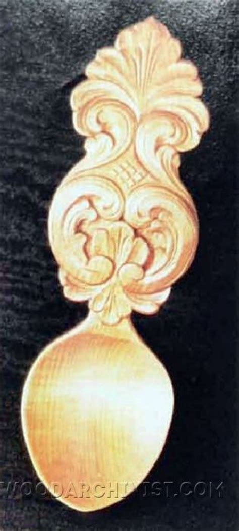 acanthus spoon carving wood carving patterns woodarchivist