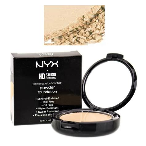 Nyx Stay Matte But Not Flat Powder Foundation phấn phủ nyx hd stay matte but not flat powder foundation