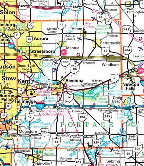 Portage County Search Portage County Ohio Map Ohiobiz