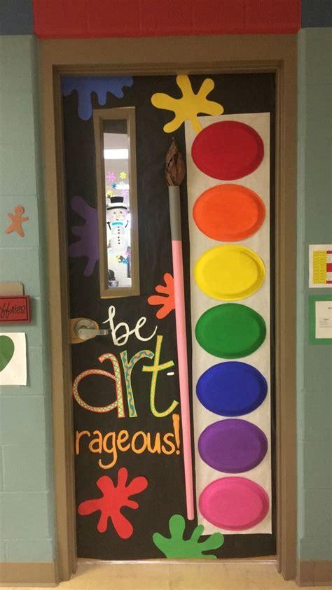 art room door class decorating ideas classroom