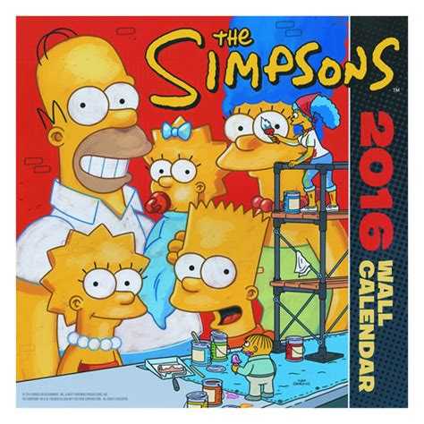 Bar T Calendar Simpsons Bongo Comics 2016 Wall Calendar