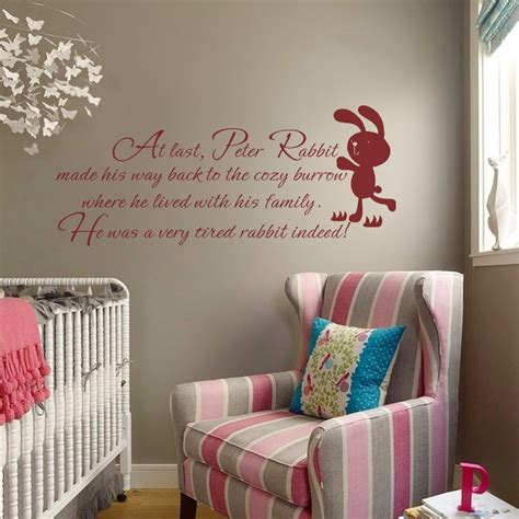 rabbit in bedroom wall decal beautfiul peter rabbit wall decals vintage