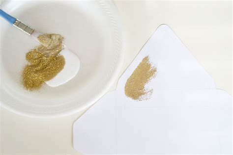 How To Make Glitter Stay On Paper - glitter lined scrapbook paper envelopes