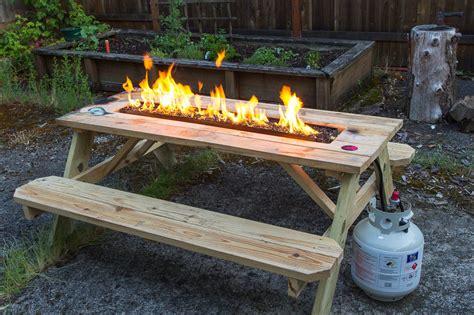 outdoor furniture with pit table arson for hire pit picnic table noveltystreet