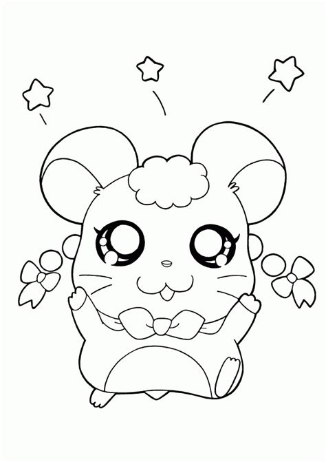 hamtaro coloring page coloring home