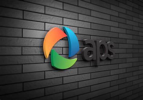 logo design mockup psd free download 3d wall logo mockup