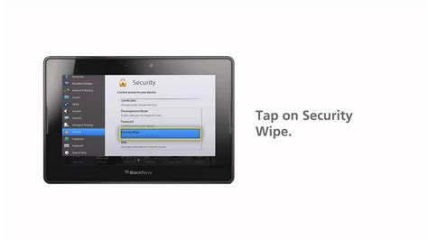 reset a blackberry playbook how to security wipe your blackberry playbook youtube