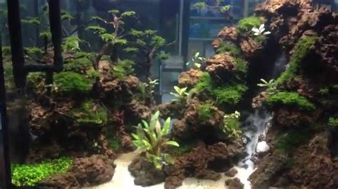 waterfall aquascape air terjun di aquascape waterfall aquascape youtube