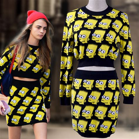 Fashion At The Uk Simpsons Premiere And We Use That Term Lightly by Free Shipping Gd Knitted Cotton Winter Skirt Sets