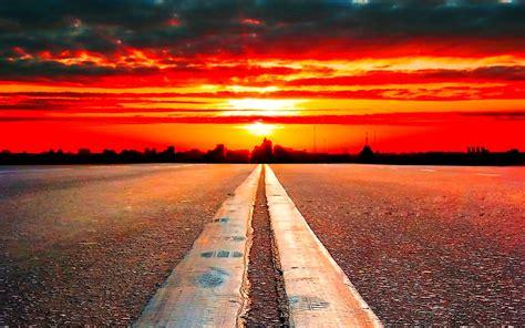 road   horizon  wallpaperscom