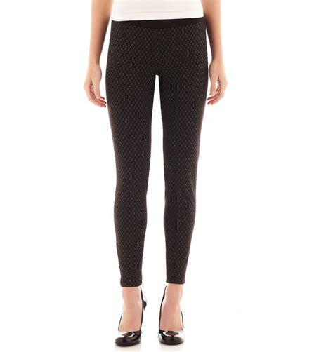 patterned tights jcpenney jcpenney bebop ponte double knit leggings shopstyle