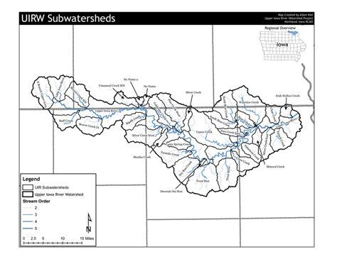 map of iowa rivers iowa river watershed maps