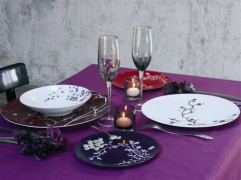marque de vaisselle de table de la table vaisselle