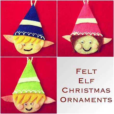 diy felt elf ornaments christmas pinterest