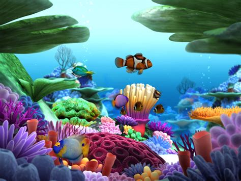 Marine life 3d screensaver 3d marine aquarium screensaver
