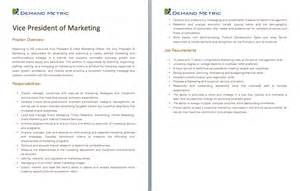 Vice President Of Sales And Marketing Description by Inside Sales Manager Description A Template To