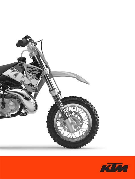 Ktm 50 Manual Ktm Motorcycle 50 Sx Junior User Guide Manualsonline