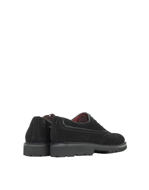 black suede oxford shoes a testoni black suede wingtip oxford shoes in black for