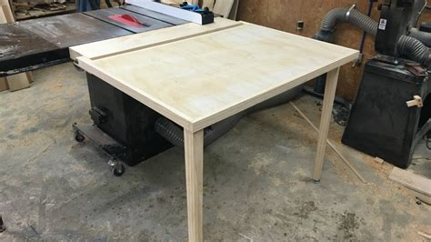diy extend table legs folding outfeed table for table saw