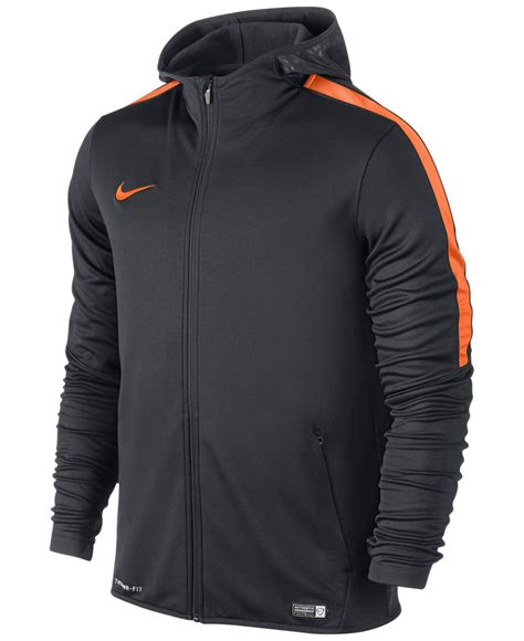 Zipper Nike 02 nike graphic knit zip football hoodie in orange for