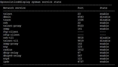 telnet ssh port ssh service enable or disable huawei olt gpon solution