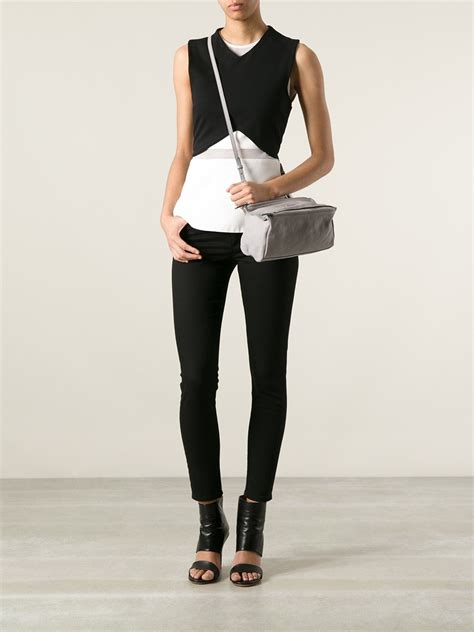 Givenci Mini lyst givenchy pandora mini bag in gray