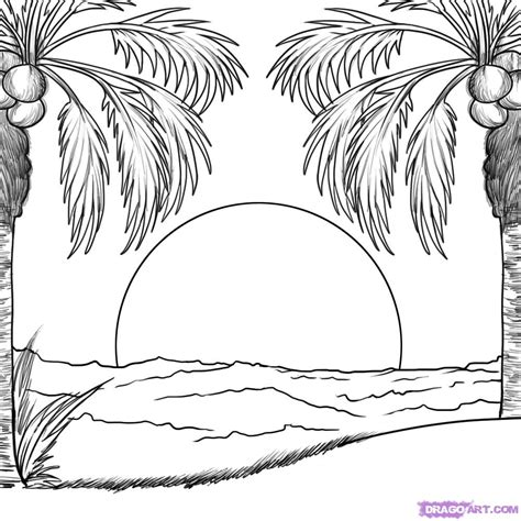 sunset coloring pages sunset coloring pages to and print for free
