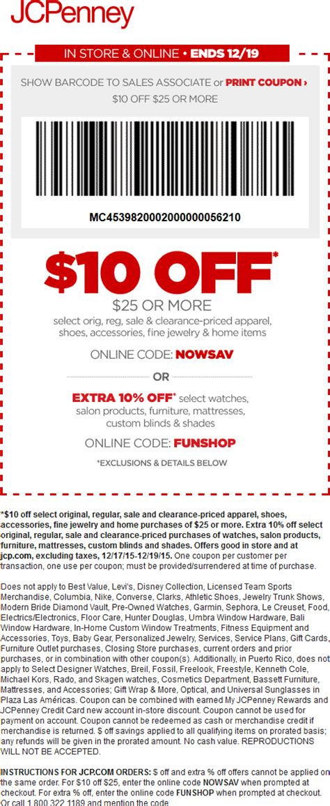jcpenney printable coupons april 2016 jcpenney coupons 10 off 25 2016 2017 best cars review