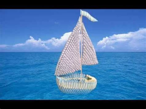 3d Origami Boat - how to make 3d origami sailboat