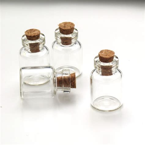 20 pcs small glass bottles pendant charm by mixnmatchsupplies